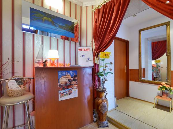 Recepcja w pensjonacie Villa Christina w Mielnie